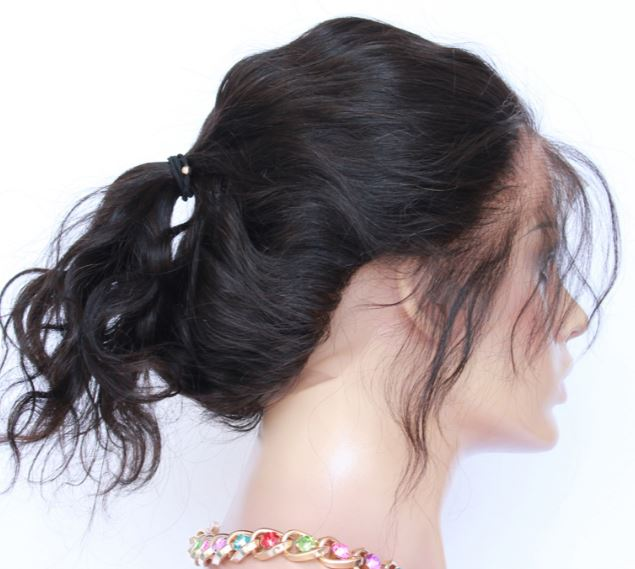 360 lace wavy frontal