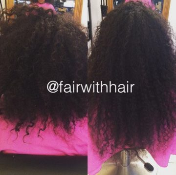 krullig hårförlängning