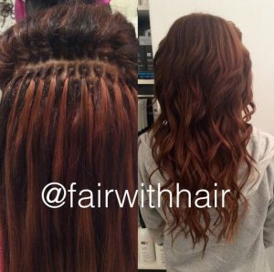 hair extension with brazilian knot extension