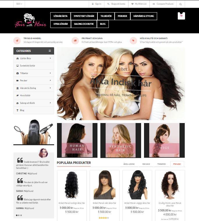 webbshop fairwithhair