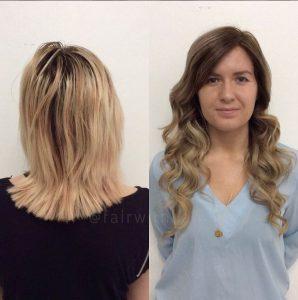 nail hair hårförlängning