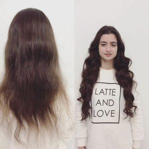 Fläta in löshår hårförlängning